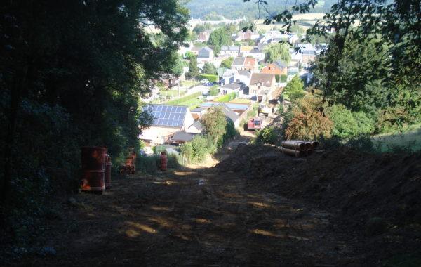 WANZE – Égouttage du Plateau de Leumont et réfection de la rue Lucien Poncelet