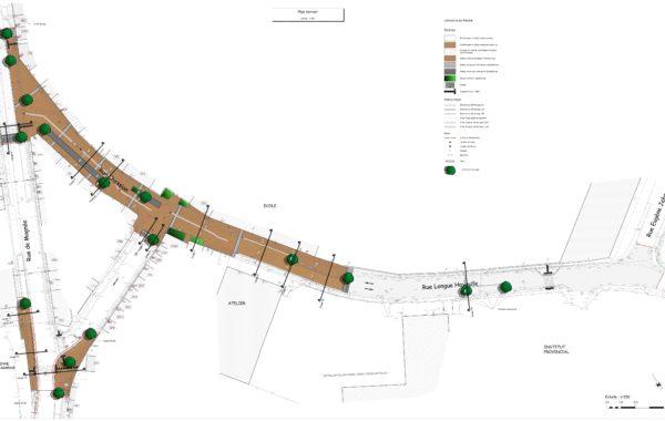 FLERON – Réalisation d'un espace public partagé évolutif rue Longue Hayoulle et rue de Chession