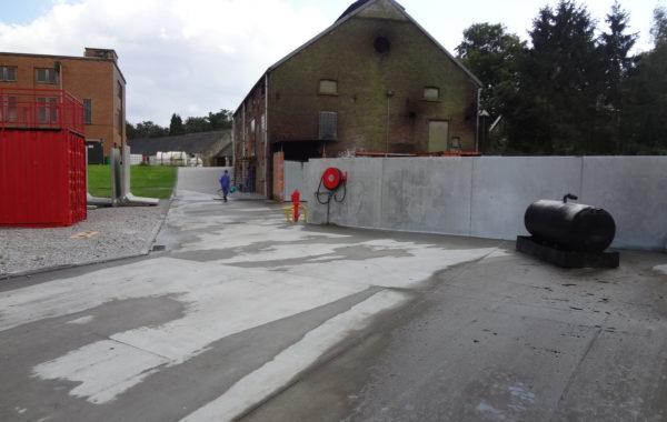 VILLERS-LA-VILLE – Aménagement d'une zone d'exercice au feu