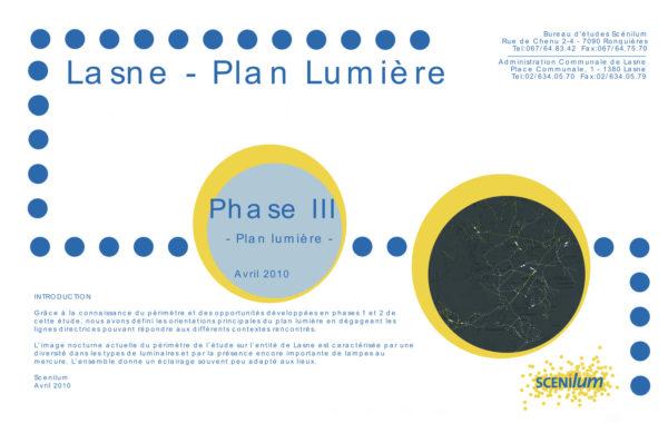 LASNE – Plan lumière